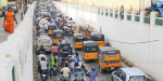 Traffic change in Raipur, motorists and bus passengers