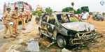 Car was burned in poonamalli high road
