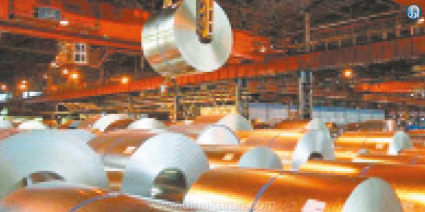 Steel imports 36 per cent decline