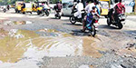 Without road construction work Rs 26 lakhs corrupt Rs