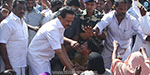 MK Stalin's demonstration today condemned the central and state governments of negligence in the fishermen issue