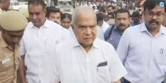 Panwarilal Purohit, the Governor of India, who was responsible for cleanliness in Coimbatore