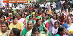 Public road blockade demanding compensation for storm victims in Kanyakumari
