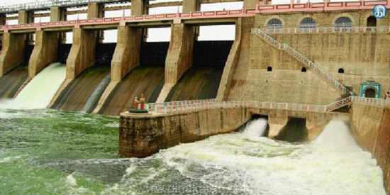 Decrease in KRP dam: 358 cubic feet reduction