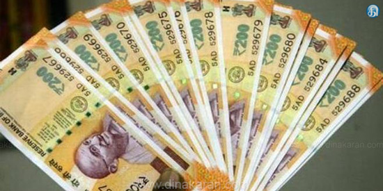 Rupee up 13 paise against dollar