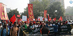Thousands of farmers have rallied across the country from Delhi
