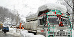 The traffic impact of more snow in the state of Jammu and Kashmir