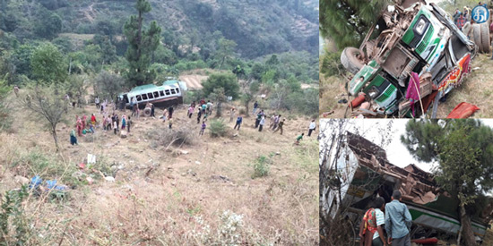 The bus fell into a gorge in Kashmir: 22 injured