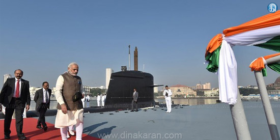 Prime Minister Modi is proud of submitting a submarine to the country of Kalwar