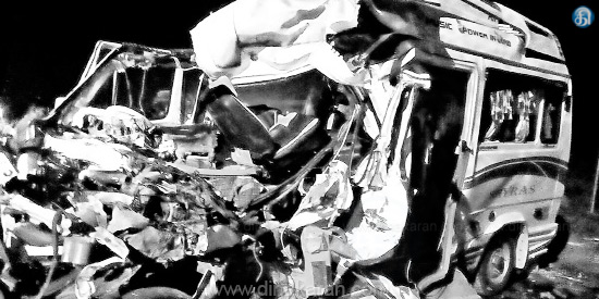 The tragedy near Tiruchi Van Driver is responsible for the death of 10 people