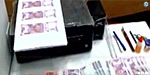 In Tiruchi the counterfeit banknotes are the house of Chennai youth Printer, scanner seized