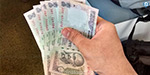 Rupee up 6 paise against dollar