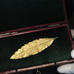 The golden leaf at Napoleon crown was auctioned for Rs 5 crore
