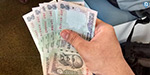 The rupee depreciated 13 paise against the dollar