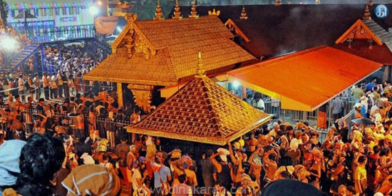 For regional time poojas Sabarimala temple opening day walk