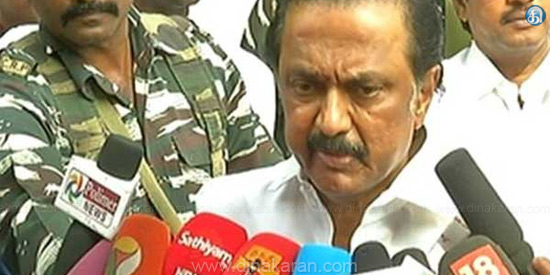 It is true that the conspiracy to repeat the election in RK nagar: Stalin's complaint