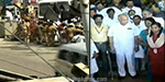 DMK protesting against the Governor's inspection at Nagam