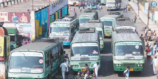 The government bus drivers are not getting buses to run because of temporary staff