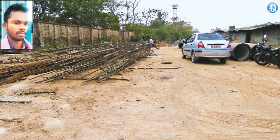 Threatened workers at the edge of the knife 2 lakh iron robbery for superstructure construction