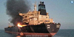 Fire on the navy-owned oil ship