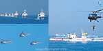 Indian-Japan Coast Guard Joint Combat Training in the Bay of Bengal with the help of 9 ships, aircraft and helicopters