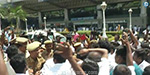 Madurai airport airport fires off OPS-TTV supporters