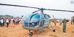 Helicopter landed on agricultural land by technical difficulties: the soldiers survived