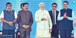 Prime Minister Narendra Modi laid the foundation stone for a new airport near Mumbai