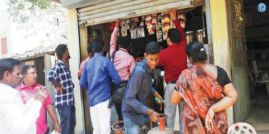 Kodungaiyur, Vyasarpadi area Operated without license Seal for 4 shops