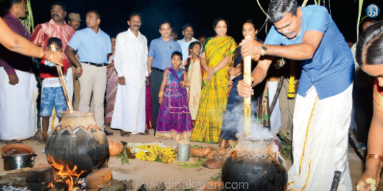 Pongal celebrated in Vellore district for the first time