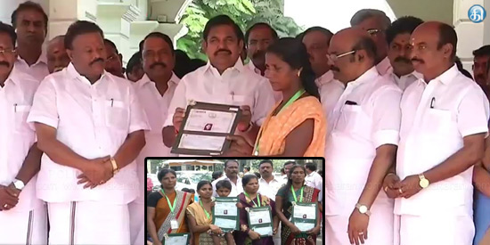The Chief Minister gave relief to the families of the fishermen during the storm