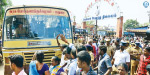 Bus tariff hike came into force: people across Tamilnadu The fight to capture the busses