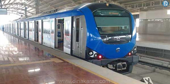Metro train test began between Chinnamalai-Tennampett
