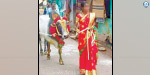 Girl free If the bull is suppressed in the jallikattu : Shocking Image in whats app