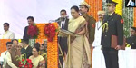 Anandiben Patel took over as Governor of Madhya Pradesh today