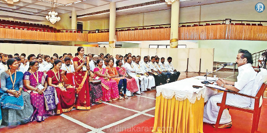 Perambalur, Ariyalur district managers and field study of the Stalin