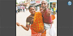 The plight of abandoned children, begging for her husband takes the wife without disabilities