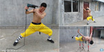 Monk who needs meditation like a hole in the head: Kung fu master uses electric drill on his temple without breaking the skin