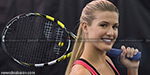 Canadian tennis star Eugenie Bouchard was given a dress code penalty at Wimbledon this afternoon for having her bra strap