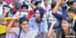 Nylon rope tightened around the neck of Anna University students on the issue of student protests