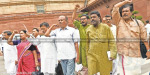 Opposition uproar in Congress MPs suspended affair; Walkout