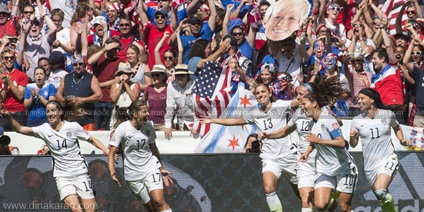 Women's World Cup foot ball: USA Champion for the third time