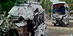 Mumbai national highway mini tempo - Luxury bus collision:11 people were killed, including a 5-year-old child