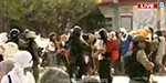 University students attempted to picket Indiscriminate attacks on police