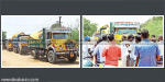 Carrying soil from the norm violation on Chembarambakkam lake apprehension trucks under custodial