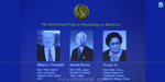 The announcement of the Nobel Prize for medicine for 3 people