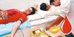 Donate blood to a heart attack decreases