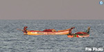 boat sank in sea, 8 fishermen rescue