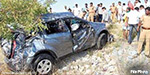Car fell in the pond, 300 feet deep quarries near Kochi: 4 people from the same family killed