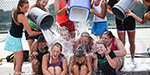 ice bucket challenge held to raise funds for patients